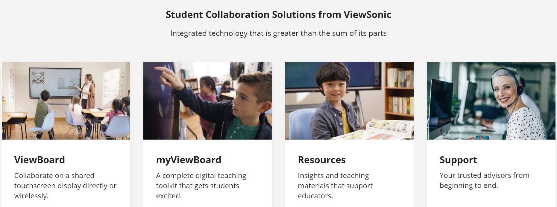 Student Collaboration Solutions from ViewSonic - Interactive Whiteboard